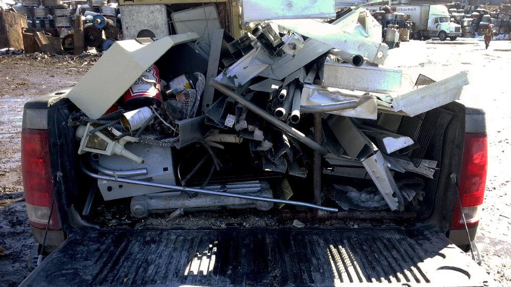 Scrap Metal Recycling - Chuck It! Junk Removal - Waste Removal Bins Winnipeg